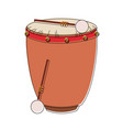 drum with sticks vector image