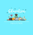 education concept with text vector image vector image