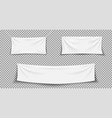 fabric banner white textile banner hanging vector image