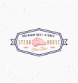 farm beef steak house vintage typography label vector image vector image