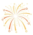 Firework design with yellow and orange stars on vector image vector image