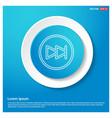 forward icon abstract blue web sticker button vector image vector image
