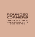 geometric sans serif font with rounded corners vector image vector image