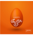 Greeting card with Easter blessings vector image