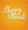 happy diwali inscription back vector image