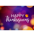 happy thanksgiving flyer design background poster vector image