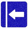 hide menu left icon grunge watermark vector image vector image