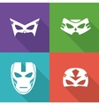 Icon set of Superhero mask Cartoon design vector image vector image