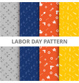 labor day pattern background vector image vector image