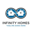 logo infinity homes vector image