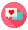 Love Messages with Heart Circle Icon vector image vector image