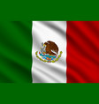 mexican flag mexico country national identity vector image vector image