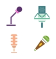 Microphone icons isolated vector image vector image