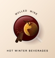 Mulled wine Christmas spices Cinnamon orange vector image vector image