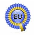 national flag badge EU vector image vector image