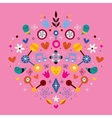 nature love harmony heart abstract art vector image vector image