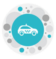 of transport symbol on taxi vector image vector image