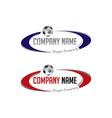 oval soccer logo vector image