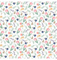 pattern with tulips and wild flowers vector image vector image