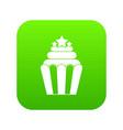 popcorn icon digital green vector image vector image