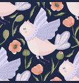 provence seamless bird pattern vector image vector image