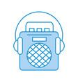 radio music player with earphones vector image vector image