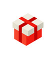 red present box isometric object vector image vector image