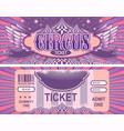 retro circus tickets vector image