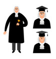 richter cartoon judge legal vector image vector image