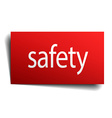 safety red paper sign isolated on white vector image vector image