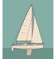 Sailing yacht Sailboat drawn flat vector image vector image