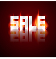 Sale Title in Flames Fire vector image