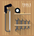 saw meter wrencht tool icon repair concept vector image vector image