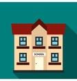 School building icon flat style vector image vector image