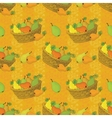 Seamless pattern baskets and fruits pears