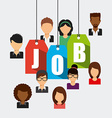 search job vector image vector image