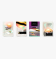 set four covers templates abstract background vector image