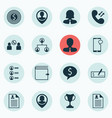 set of 16 human resources icons includes vector image