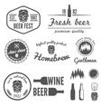 set vintage logo badge emblem or logotype vector image