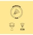 seth logos for badminton club vector image