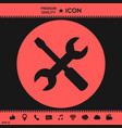 settings icon - wrench and screwdriver vector image