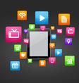 smart tablet vector image vector image