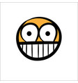 smile-face-simple-hand-drawn vector image