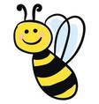 smiling honeybee or color vector image vector image