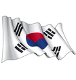South Korea Flag vector image vector image