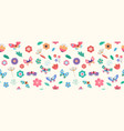 summer seamless pattern banner with butterflies vector image vector image