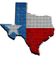 texas grunge map with flag inside vector image