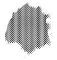thassos greek island map population people vector image vector image