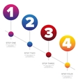 timeline - one two three four progress bar label vector image vector image