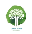 tree logo icon sign emblem template vector image vector image